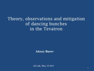 Theory, observations and mitigation of dancing bunches  in the Tevatron
