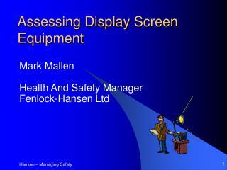 Assessing Display Screen Equipment
