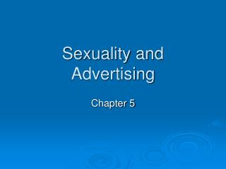Sexuality and Advertising
