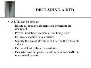 DECLARING A DTD