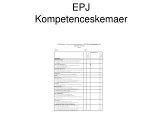 EPJ Kompetenceskemaer