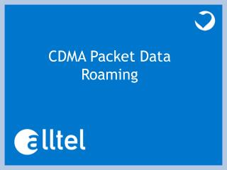 CDMA Packet Data Roaming