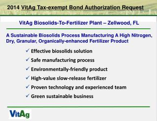 2014  VitAg Tax-exempt Bond Authorization Request