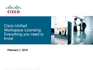 Cisco Unified  Workspace Licensing: Everything you need to know