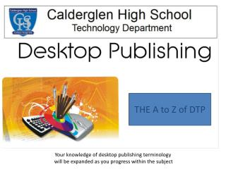 Your knowledge of desktop publishing terminology