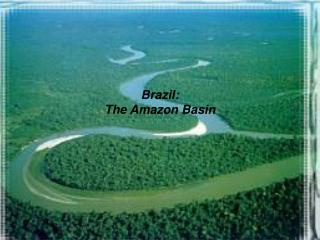 Brazil: The Amazon Basin