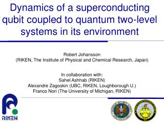 Dynamics of a superconducting qubit coupled to quantum two-level systems in its environment