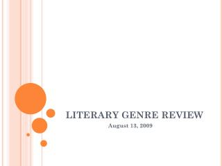 LITERARY GENRE REVIEW