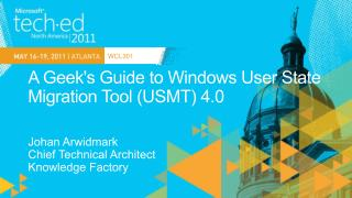 A Geeks Guide to Windows User State Migration Tool USMT 4.0