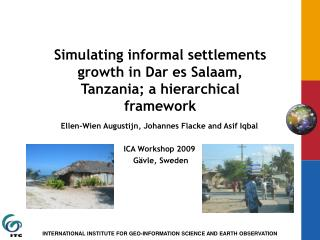 Simulating informal settlements growth in Dar es Salaam, Tanzania; a hierarchical framework