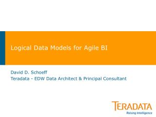 Logical Data Models for Agile BI