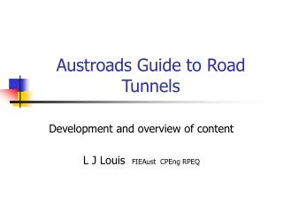 Austroads Guide to Road Tunnels
