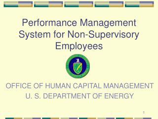 Performance Management System for Non-Supervisory Employees