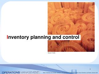 I nventory planning and control