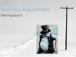3.5 Solving Equations