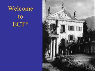 Welcome to ECT*