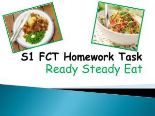 S1 FCT Homework Task