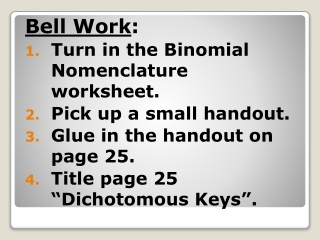 Classification and  Dichotomous Keys   5