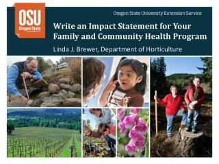 Write an Impact Statement for Your Family and Community Health Program