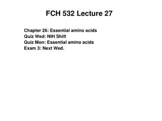 FCH 532 Lecture 27