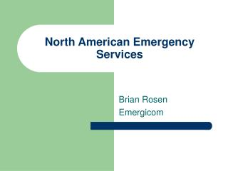 North American Emergency Services