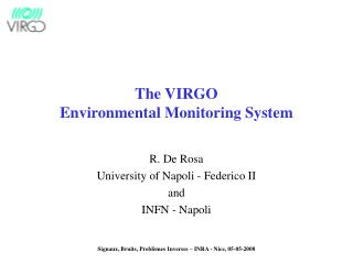 The VIRGO Environmental Monitoring System