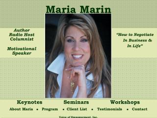 Author Radio Host Columnist   Motivational  Speaker