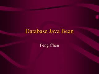 Database Java Bean