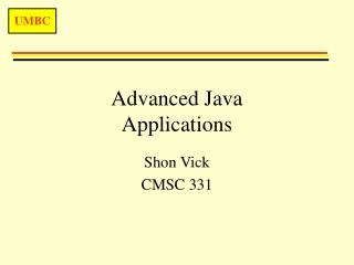 Advanced Java Applications