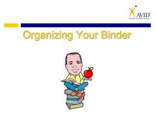 Organizing Your Binder