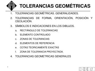 TOLERANCIAS GEOM�TRICAS