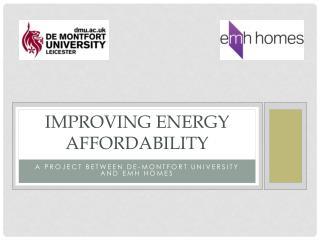 Improving energy affordability