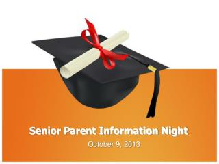 Senior Parent Information Night