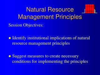 Natural Resource Management Principles