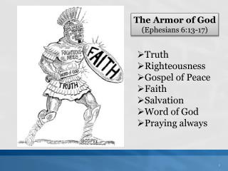 The Armor of God (Ephesians 6:13-17)