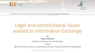 Legal and constitutional issues related to Information Exchange