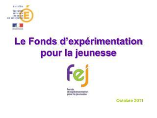 Le Fonds d'expérimentation  pour la jeunesse