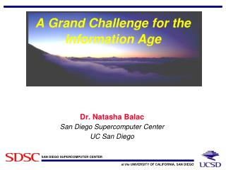 A Grand Challenge for the Information Age