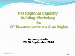 ITU Regional Capacity Building Workshop