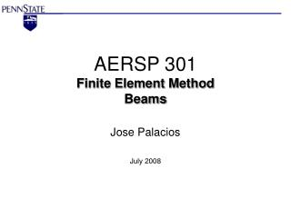 AERSP 301 Finite Element Method Beams