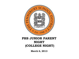 PHS JUNIOR PARENT NIGHT  (COLLEGE NIGHT)
