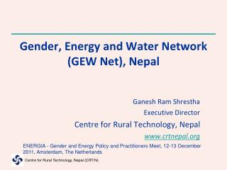 Gender, Energy and Water Network (GEW Net), Nepal