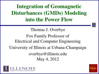 Integration of Geomagnetic Disturbances (GMDs) Modeling  into the Power Flow