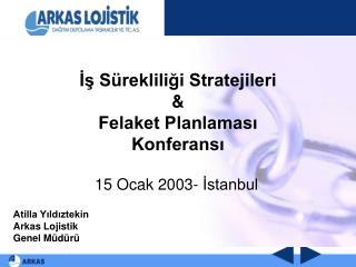 İş Sürekliliği Stratejileri & Felaket Planlaması Konferansı