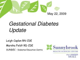 Gestational Diabetes Update
