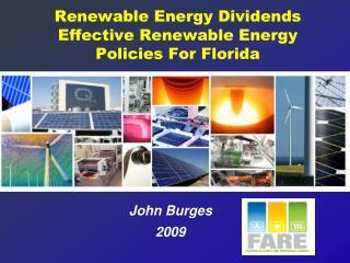 Renewable Energy Dividends  Effective Renewable Energy Policies For Florida