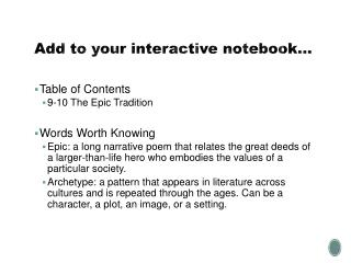Add to your interactive notebook…