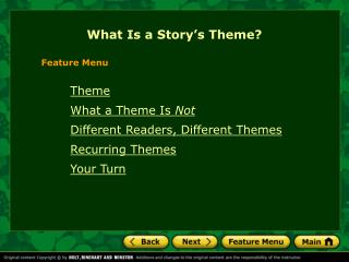 What Is a Story's Theme?