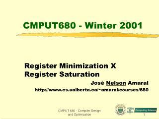 CMPUT680 - Winter 2001