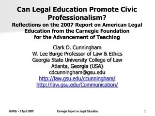 � Law schools create people who are smart without a purpose .�